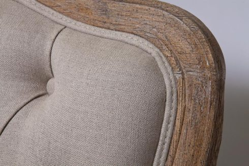 grey linen chair