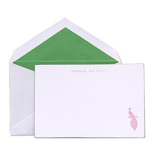 Kate Spade.Peacock Correspondence Cards