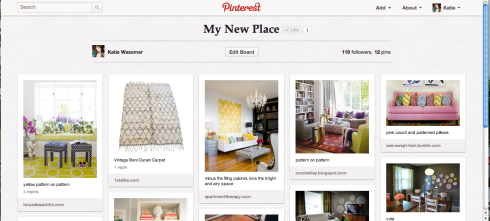 My New Place Pinterest