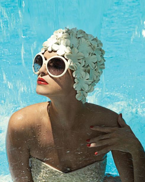 Girl in Bathing Cap