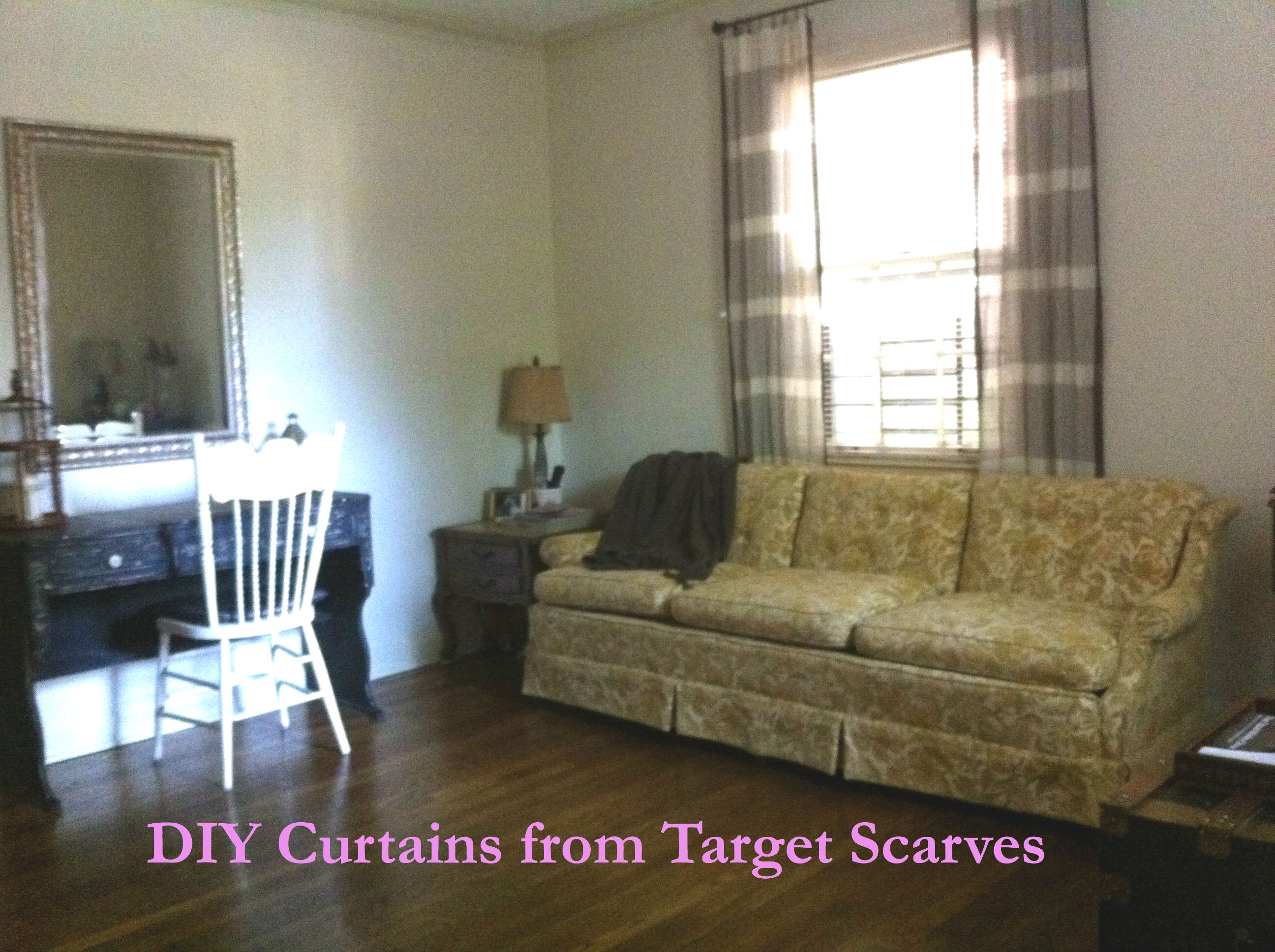 Bullseye Curtains Made From Target Scarves Living Room